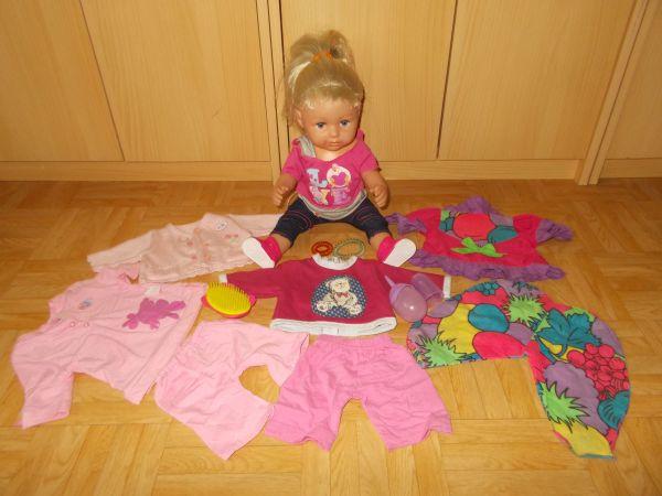 816266bd26 Baby Born Sister Interactive mit Zubehör + 7 Teile Bekleidung in ...