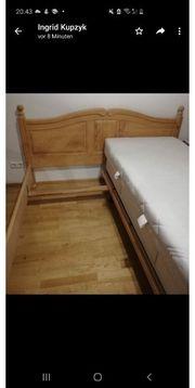 Verkaufe ein Bett in Landhausoptik