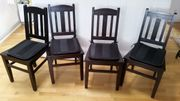 4 Kolonialstühle optional mit Tisch