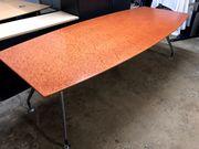 BÜROAUFLÖSUNG Besprechungstisch Konferenztisch mit Sideboard