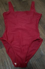Badeanzug rot M