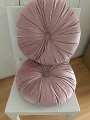 Samt Kissen Zierkissen Dekoration rosa