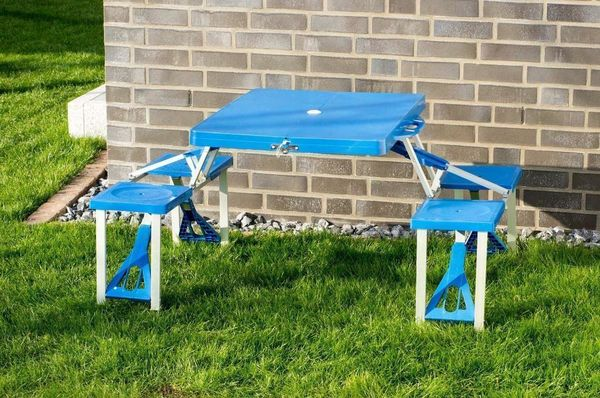 Kinderpicknickbank, Kunststoff blau, klappbar NEU in Verl ...