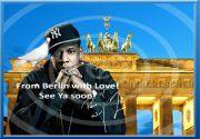 Original JAY-Z Berlin-Souvenir signiert Deko