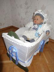 Reborn-Baby mit oder ohne Wiege