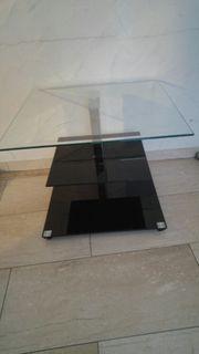Couchtisch aus Glas Glastisch schwarz