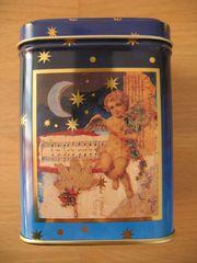 Teedose weihnachtlich mit Engel eckig
