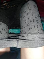 getragen leggins mit muschisaft frisch