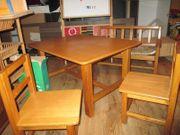 Kindertisch 2 Stühle 1Bank Massivholz
