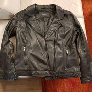 schöne schwarze Damen-Lederjacke Gr 42