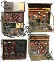 Altes tschechoslowakisches Radio Radio Feldtelefone