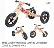 Lauflernrad Bike aus echtem Holz