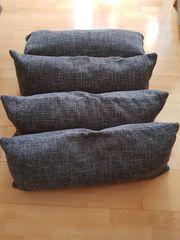 4 Couch Kissen mit Reissverschluss