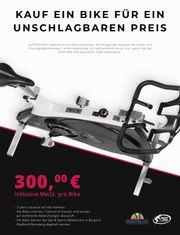 Schwarzweiss-Variante Body Bike Surpeme Heimtrainer