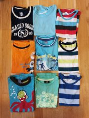 T-Shirts ärmellos 9 Stück 122