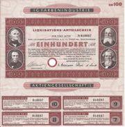 I G Farben Industrie Liquidators-Anteilschein