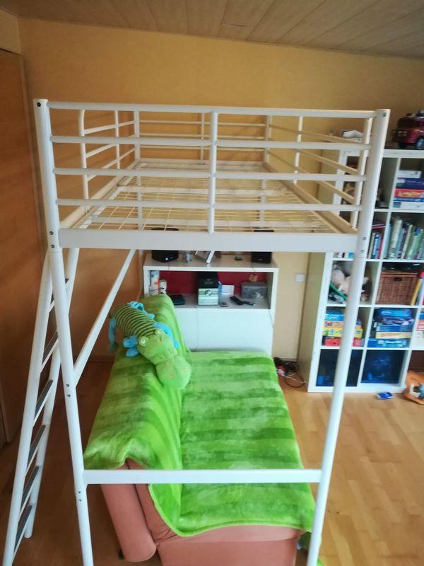 Hochbett Ikea Svärta Weiss 90x200 Cm Jugendbett Kinderbett Für