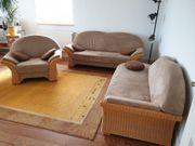 Sehr gut erhaltene Rattan Sofa-Garnitur
