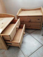 Schlafzimmer Doppelbett 2 Nachttische Kommode