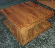 Palisander Massivholz-Couchtisch 80x80 sehr robust