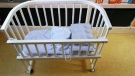 Baby stubenwagen beistellbett aus rattan in wandsbek
