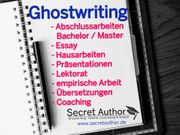 Ghostwriting Ghostwriter Bachelor Master Hausarbeit