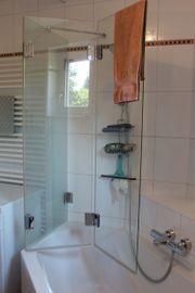 Glastrennwand Badewannenaufsatz zum Duschen Duschwand