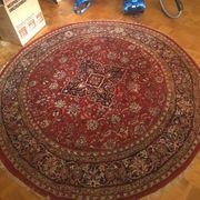 handgeknüpfter Teppich rund
