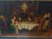 Altmeister Qualitatives Ölgemälde Biedermeier Ölmalerei