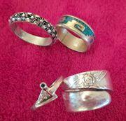 4 verschiedene Ringe ca 19