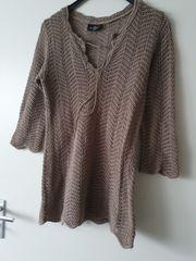 Strick Pullover braun Gr S
