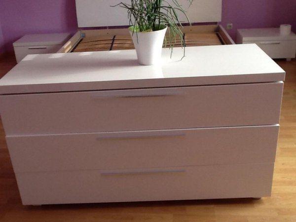 Wunderschönes Schlafzimmer Hochglanz Weiß