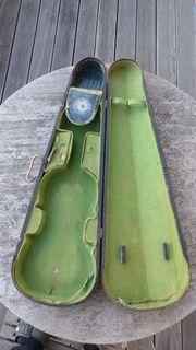 Geigenkasten Holz antik