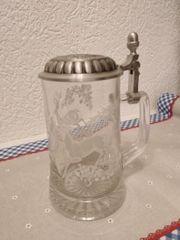 Glaskrug 0 5l mit Zinndeckel