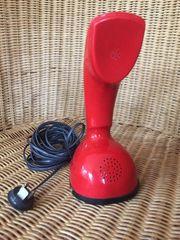 Seltenes rotes Telefon Ericofon Kobra