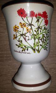 Keramik Kelch mit der Aufschrift