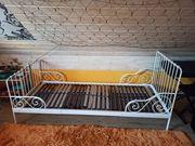 Bett Metallbett mit Beco Lattenrost