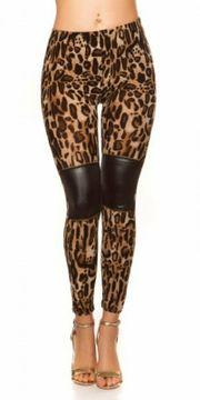 Sexy Leggings im Leolook mit