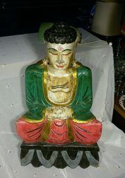 Skulptur orientalisch Buddha Statue Holz