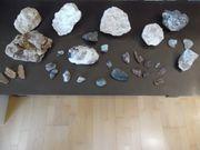 Mineralien Steine Konvolut