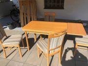 Esstisch ausziehbar mit 4 Stühlen