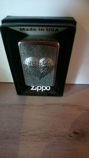 Zippo Herz mit Federn