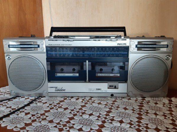Doppelkassettenrecorder Philips Turbo Tandem Original