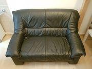 2-Sitzer Couch schwarzes Leder