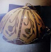 Deckenlampe Glas goldfadben