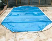 Pool Abdeckung Beckenrandsteine Abrollvorichtung