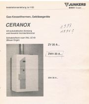 Junkers - Ceranox - ZWV 20 a -
