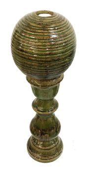 Keramik Säule 59cm mit Kugel