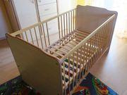 Babybett Kinderbett Gitterbett mit Schlupfsprossen