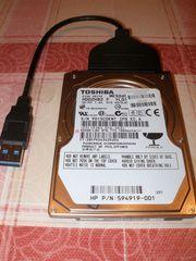 Externe USB-Festplatte 500 GB SATA